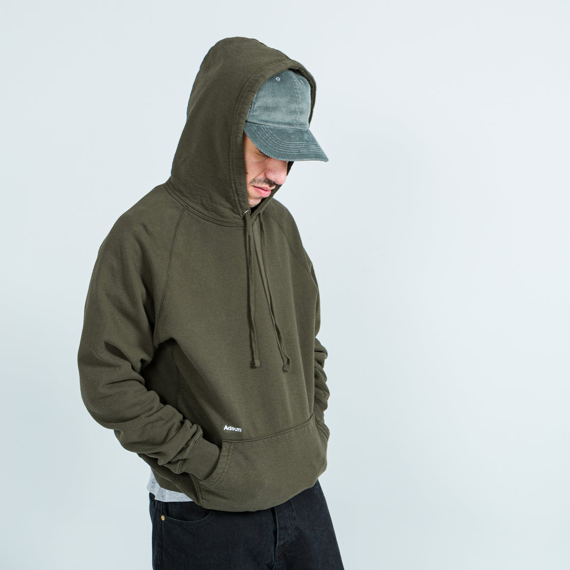Adsum - Core Logo Hoodie - Dark Green - Up There