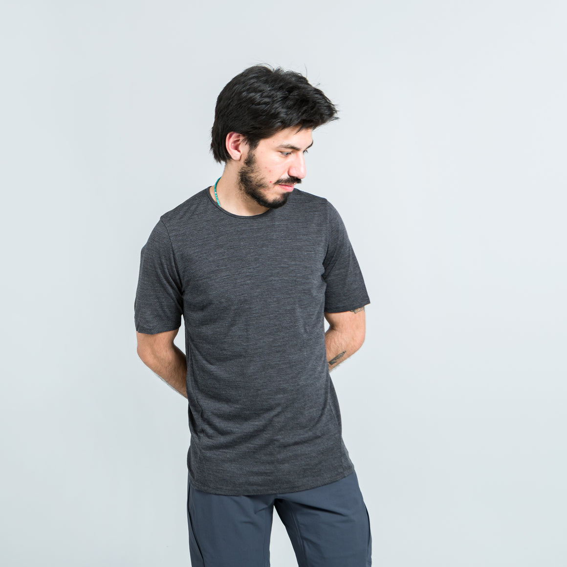 Arc'Teryx Veilance - Frame SS T-Shirt - Soot Heather - Up There