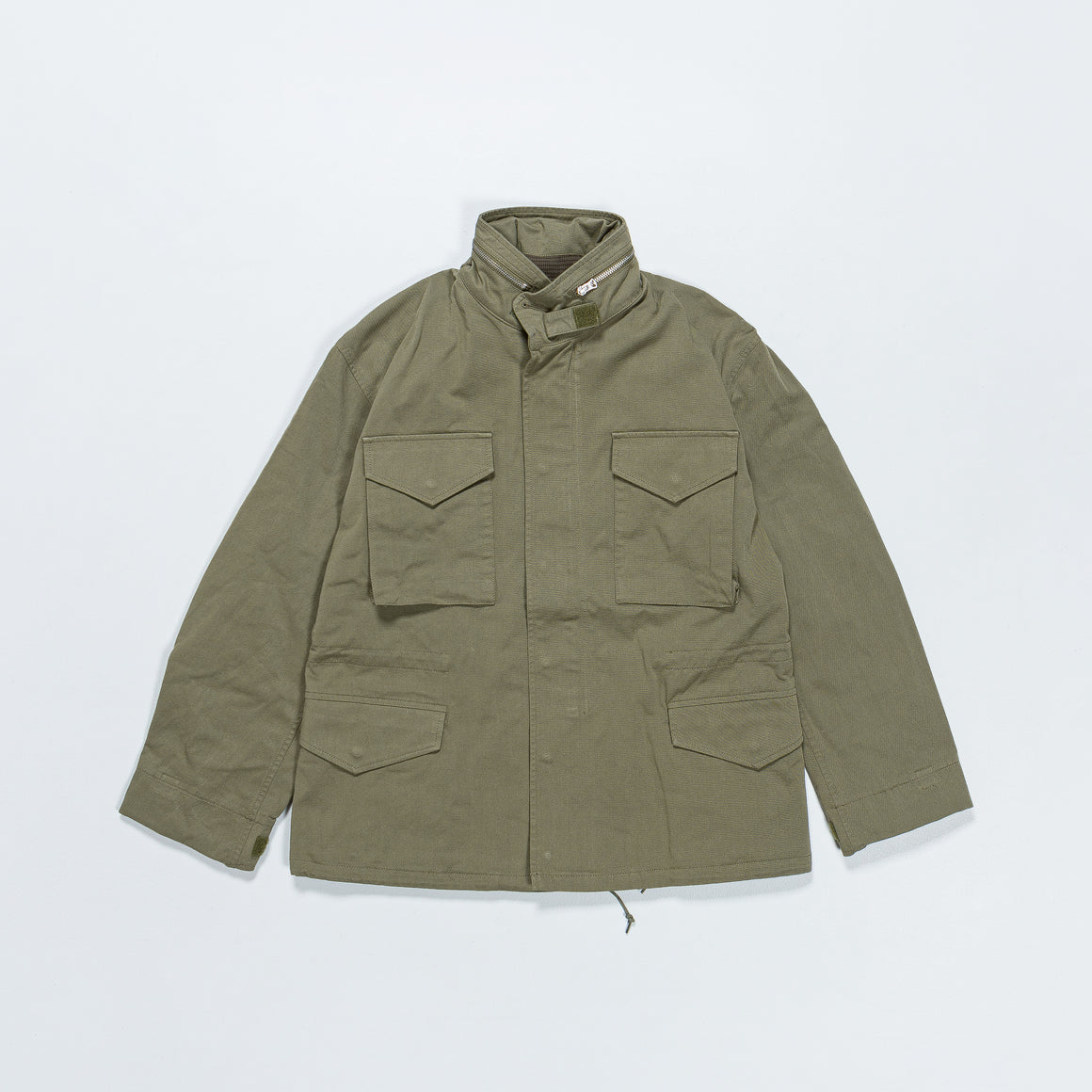 Beams Plus - M-65 Type - Olive Hollow Yarn Twill - Up There