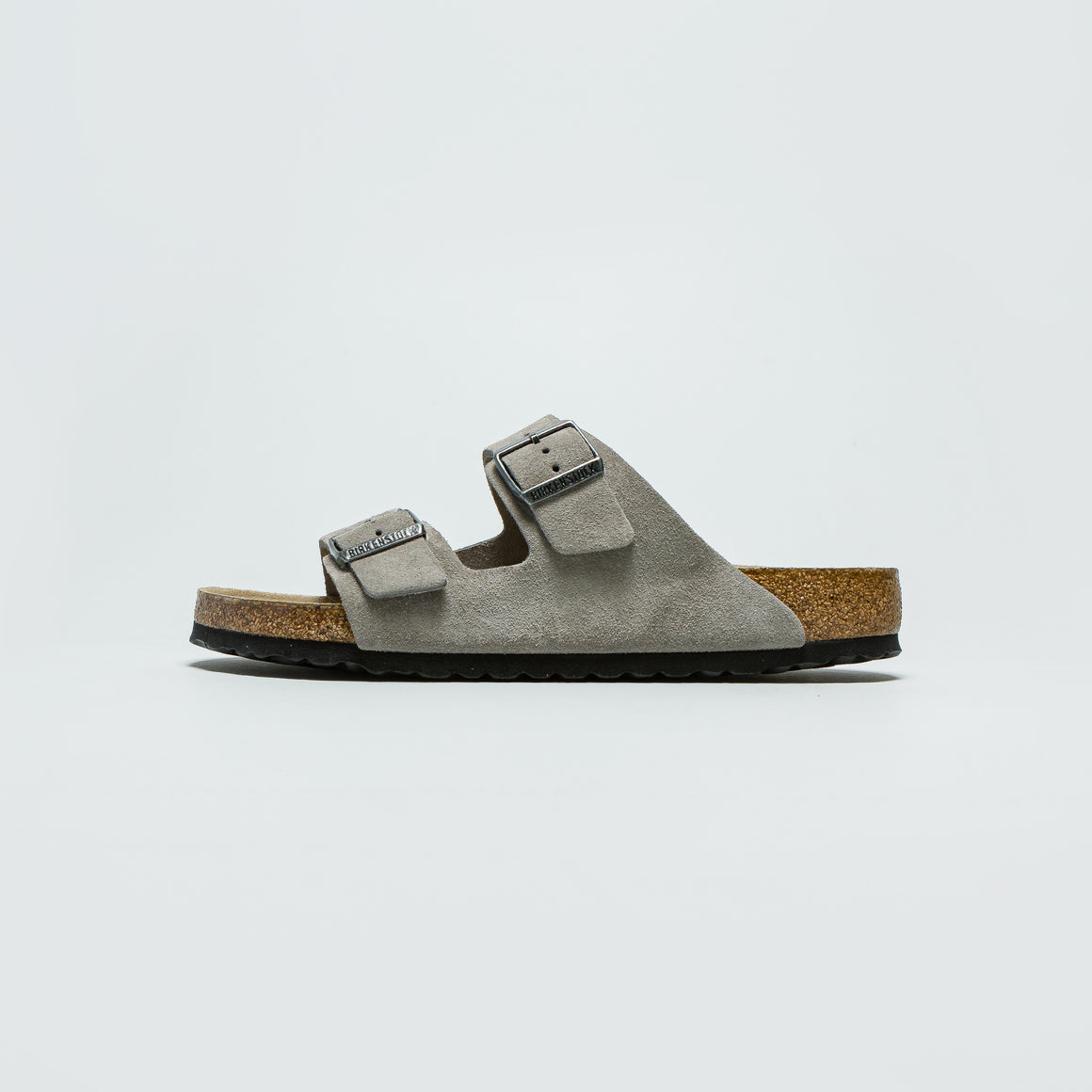 Birkenstock - Arizona SFB - Stone Coin Suede Leather - Up There