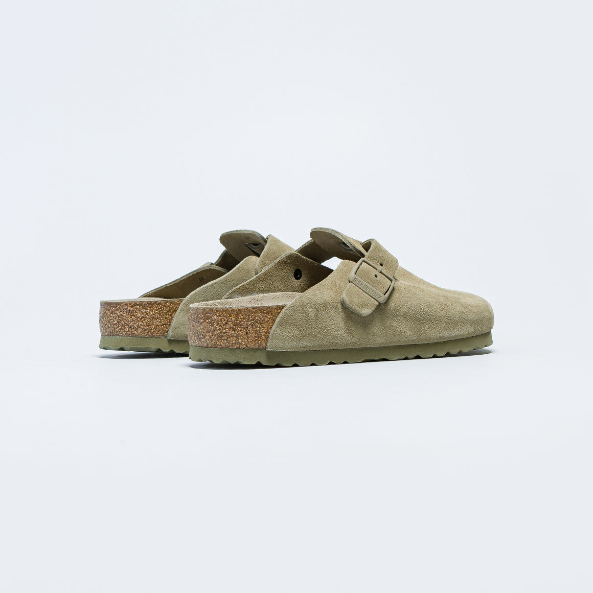 Birkenstock - Boston SFB - Faded Khaki Suede Leather - Up There