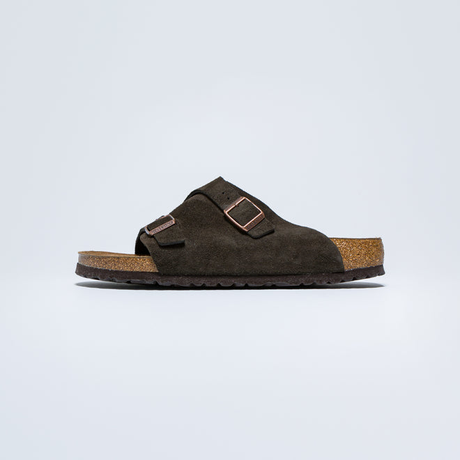 Birkenstock - Zurich SFB - Mocca Suede Leather - Up There