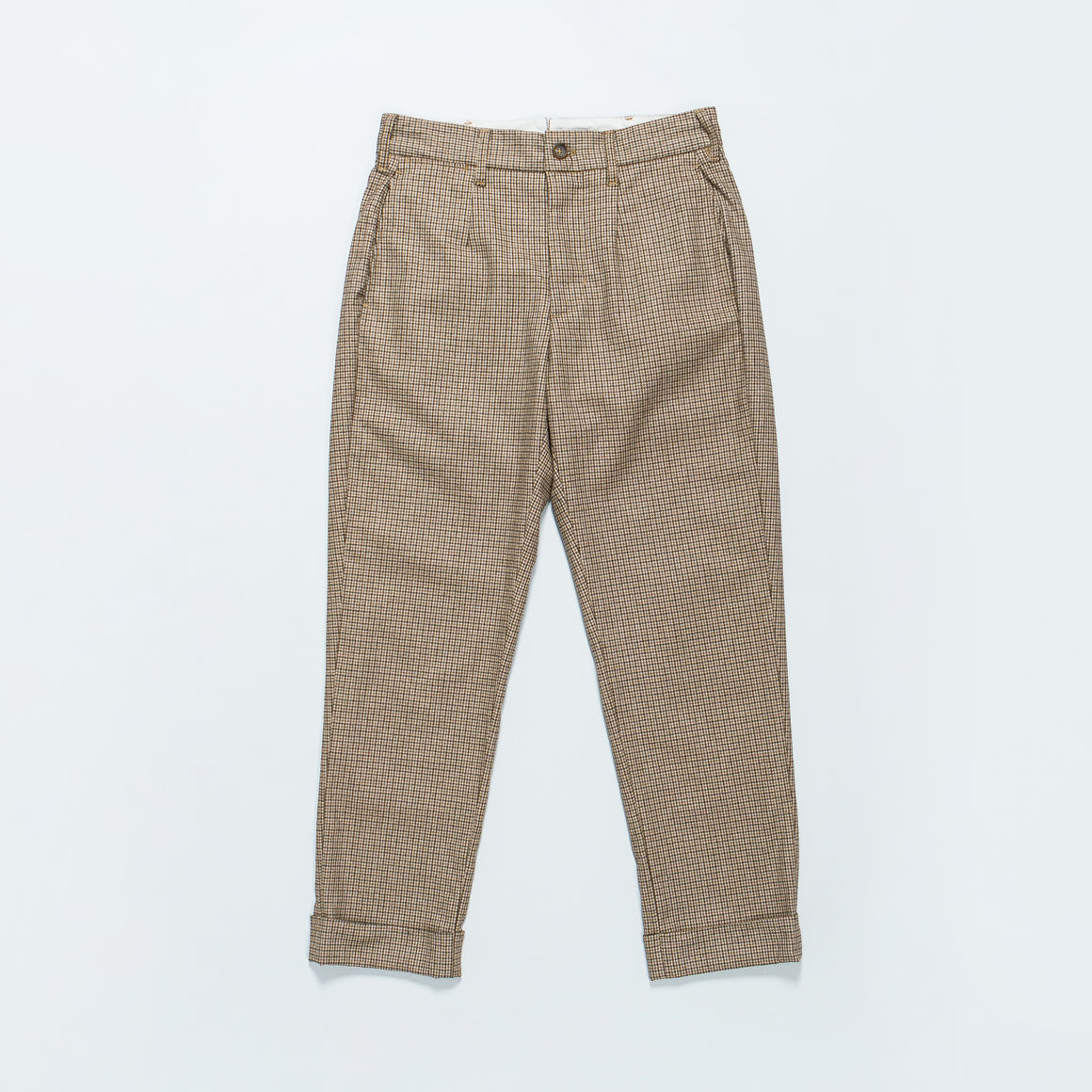 Engineered Garments - Andover Pant - Brown Wool Poly Gunclub Check - Up There