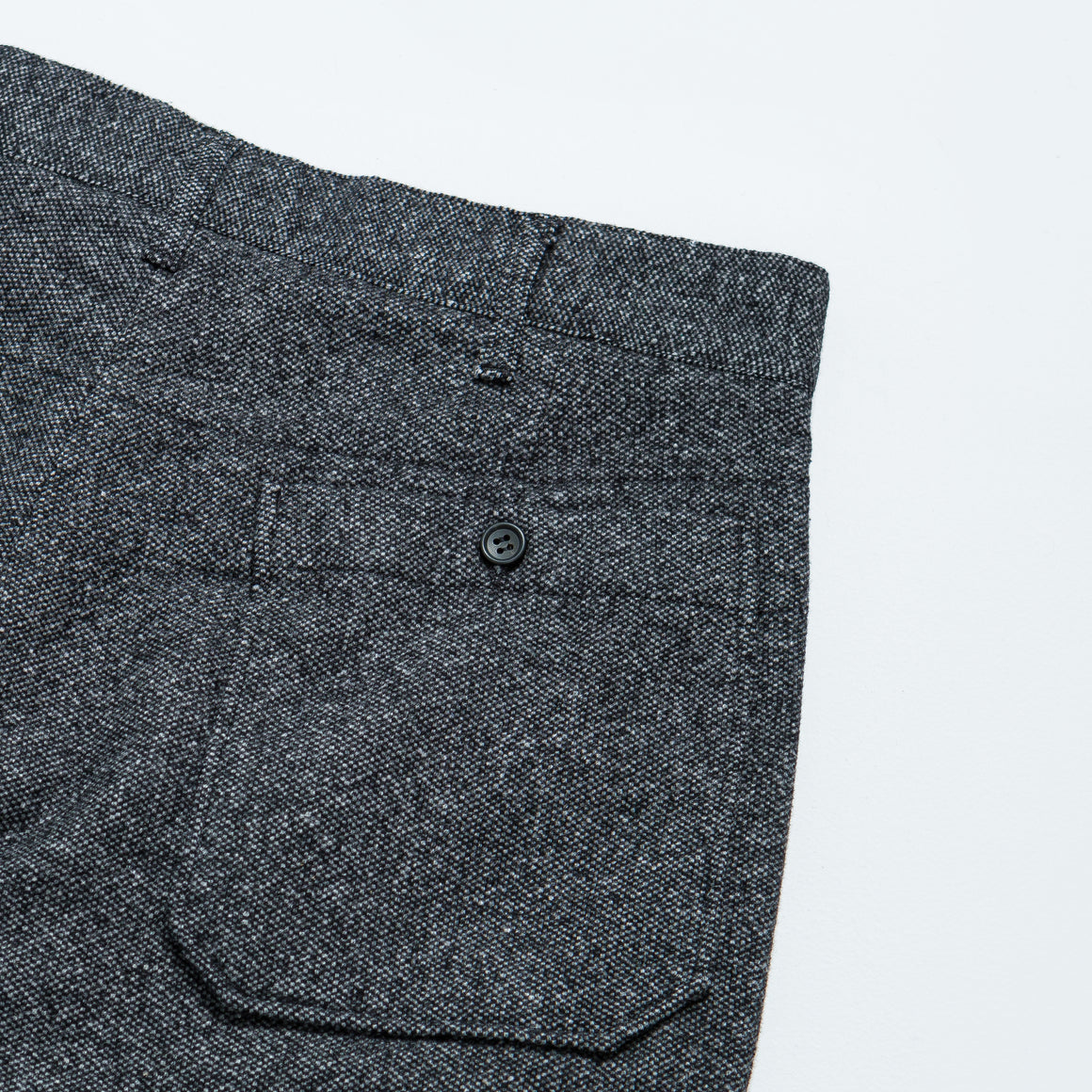 Engineered Garments - Carlyle Pant - Grey Wool Blend Homespun - Up There