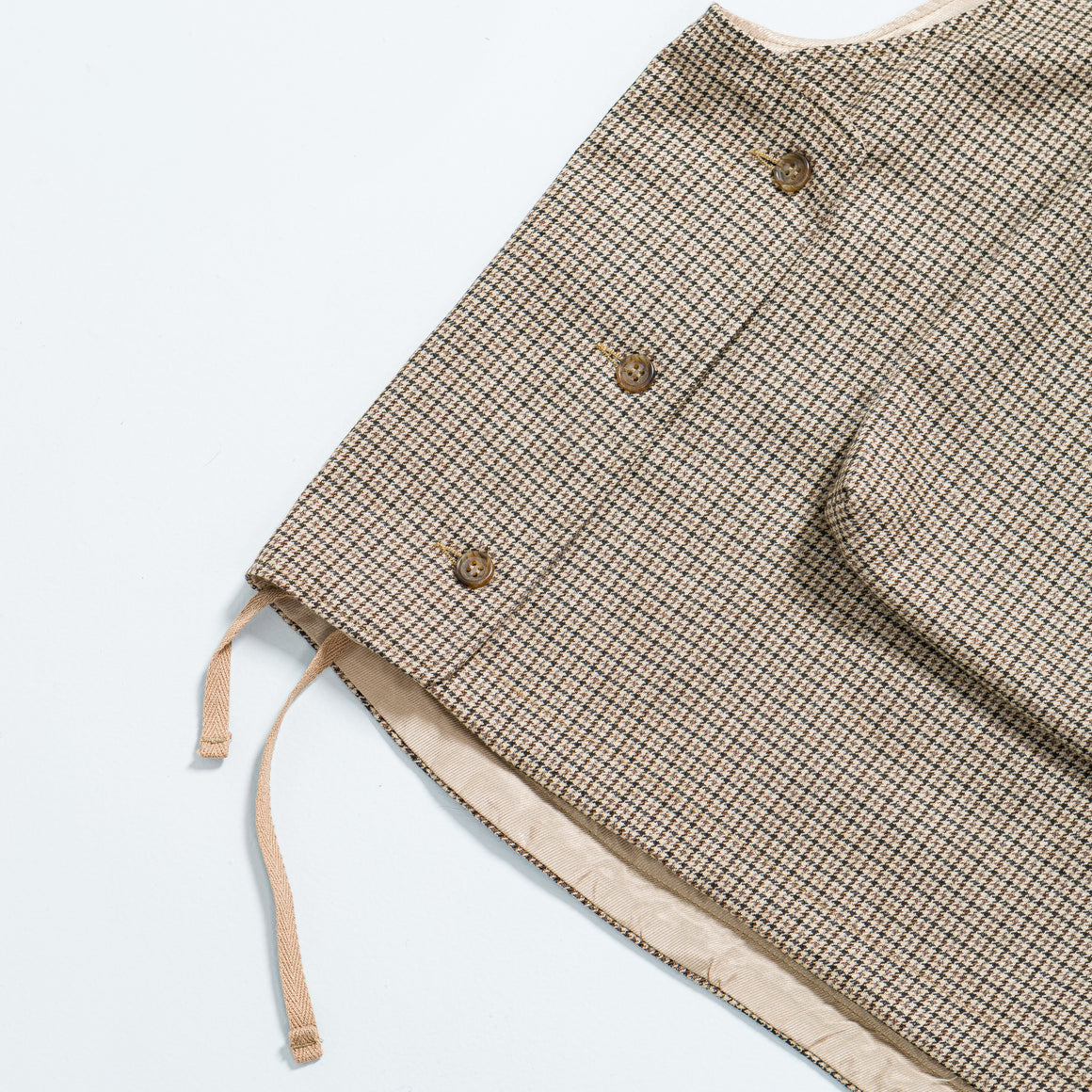 Engineered Garments - Cover Vest - Brown Wool Poly Gunclub Check - Up There
