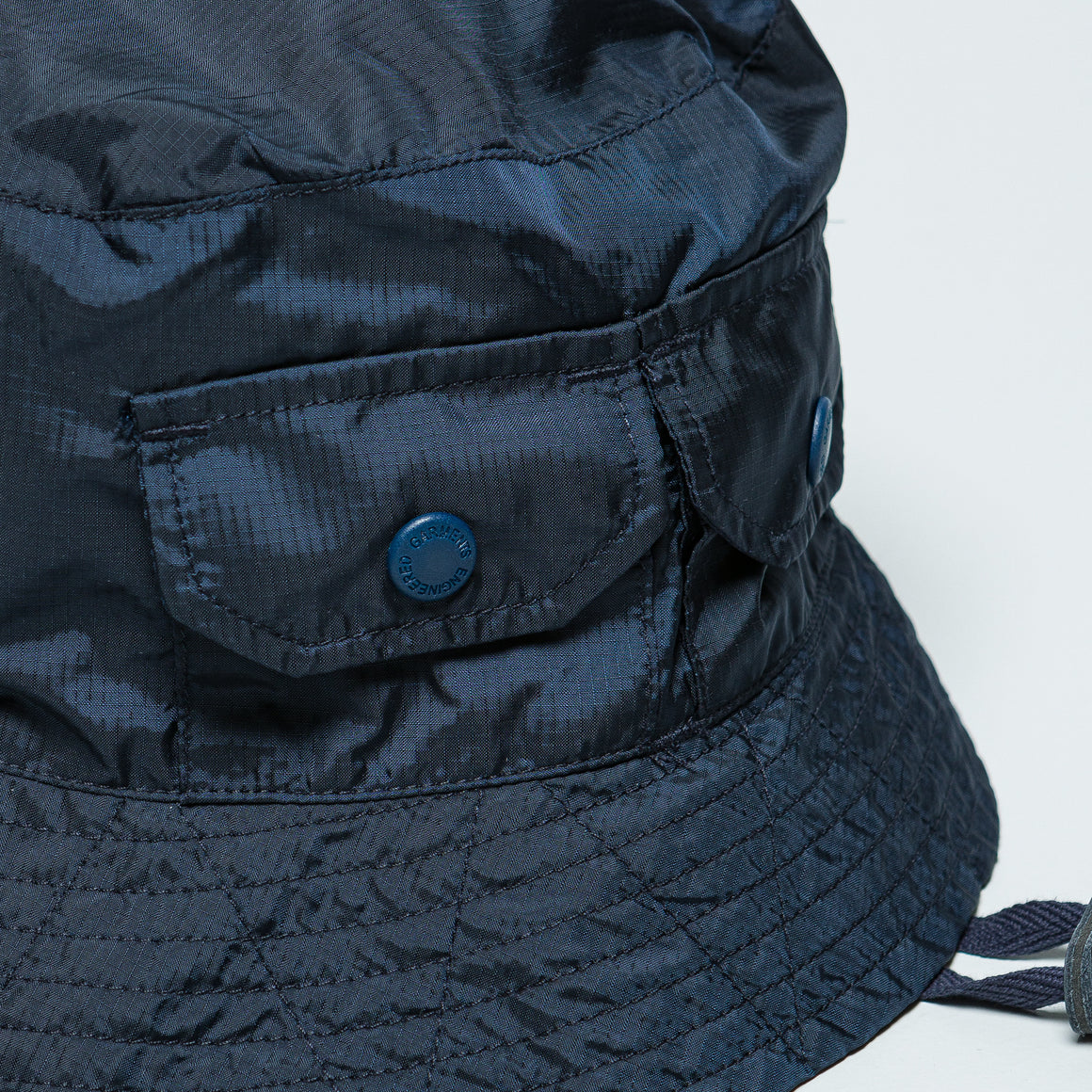 Engineered Garments - Explorer Hat - Navy Nylon Micro Ripstop - Up There