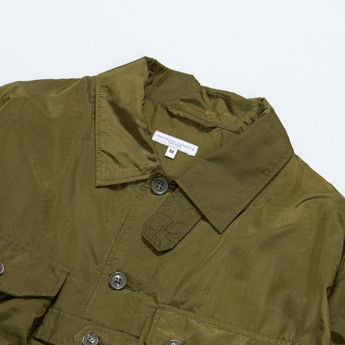 Engineered Garments - Explorer Shirt Jacket - Olive Nylon Micro Ripstop - Up There