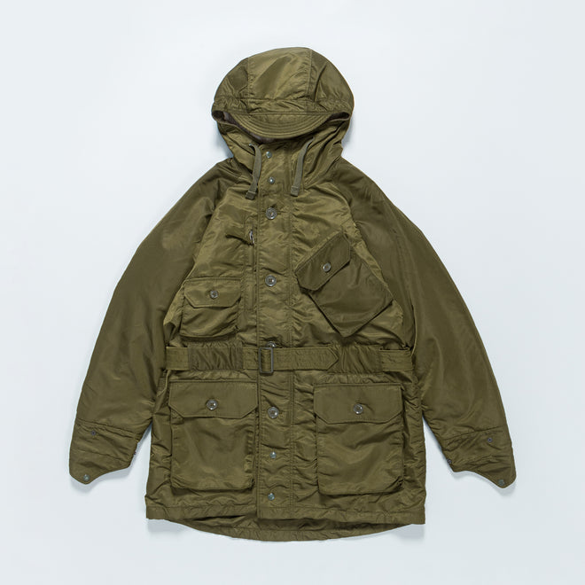 Engineered Garments - Field Parka - Olive Flight Satin Nylon - Up There