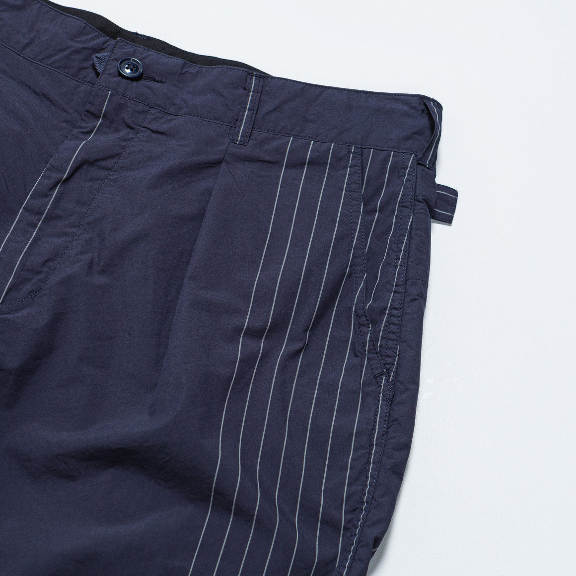 Engineered Garments - Ground Pant - Dark Navy Nyco Gangster Stripe - Up There