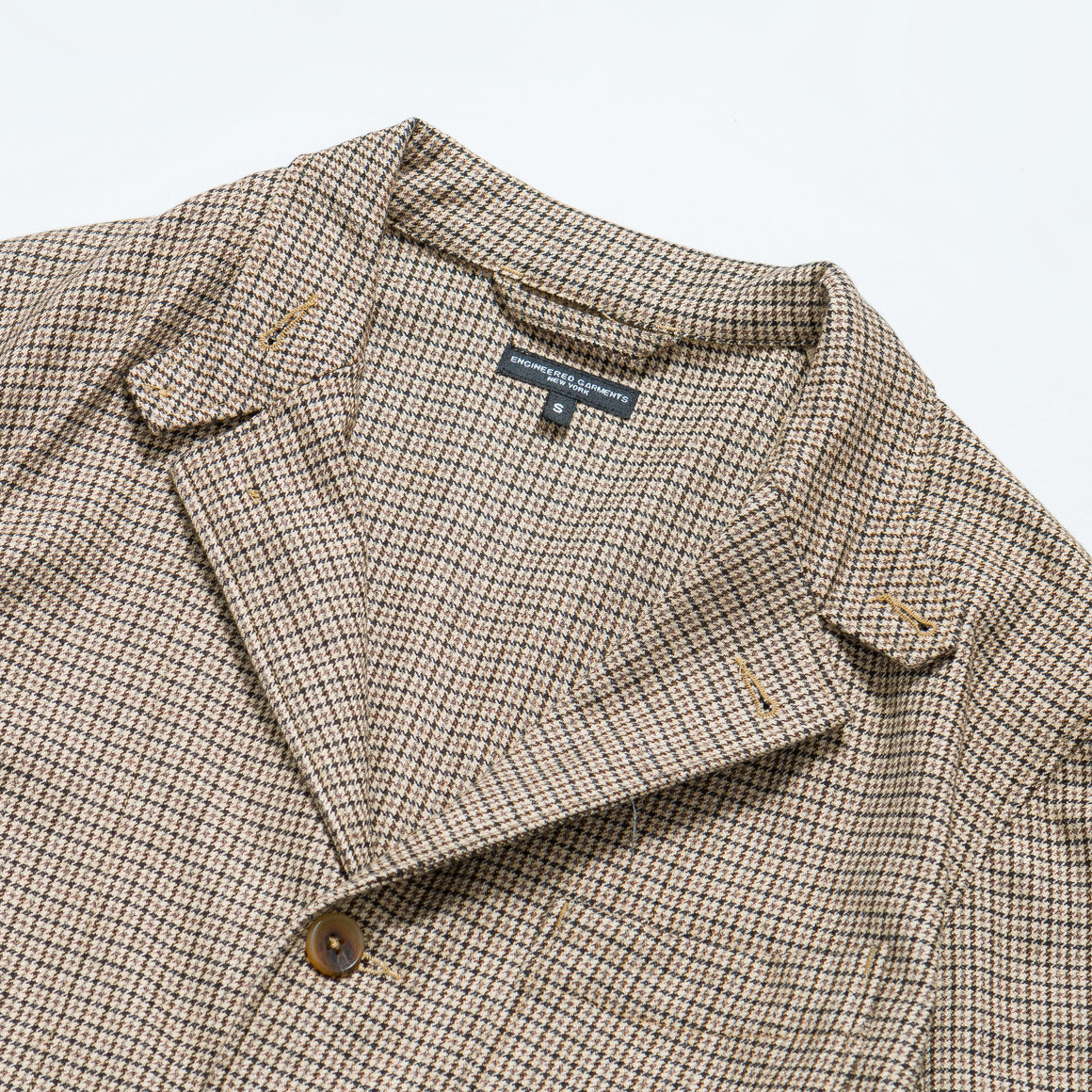 Engineered Garments - Loiter Jacket - Brown Wool Poly Gunclub - Up There