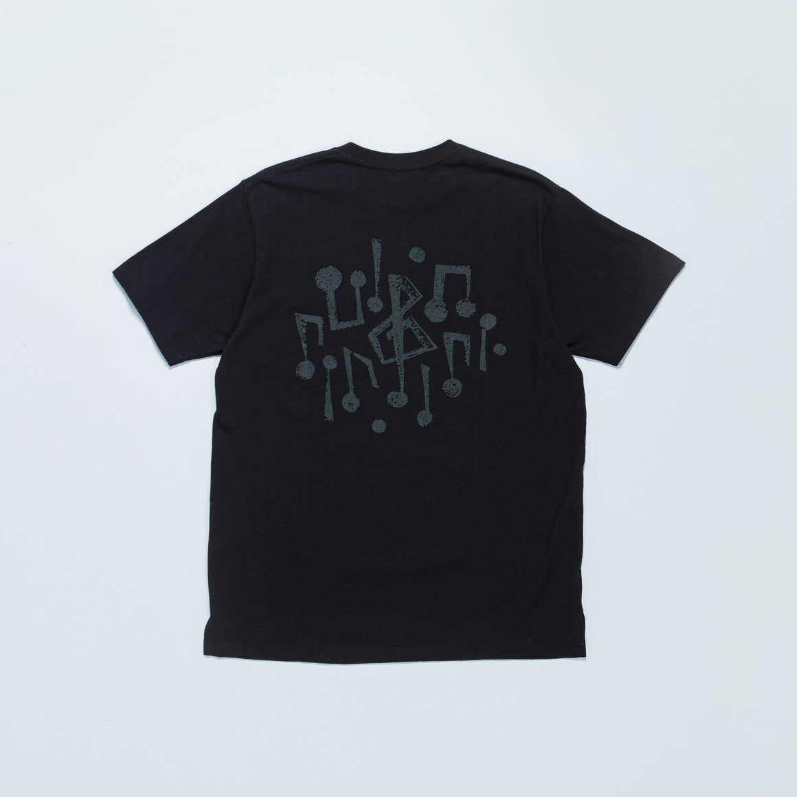 Engineered Garments - Printed Cross Crewneck T-Shirt - Black w/ 1G Print - Up There