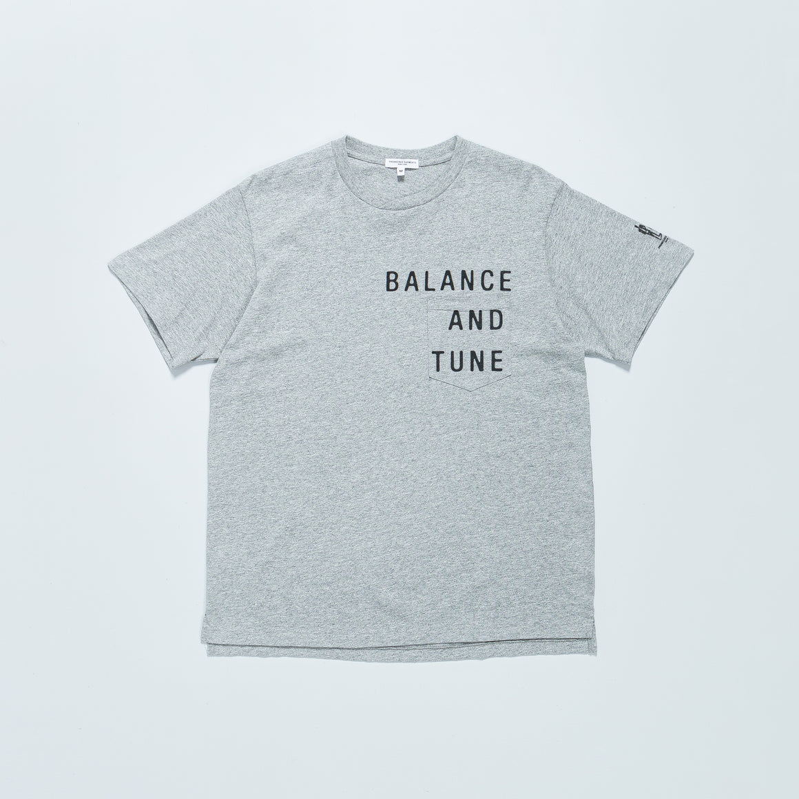 Engineered Garments - Printed Cross Crewneck T-Shirt - Grey w/ Balance Print - Up There