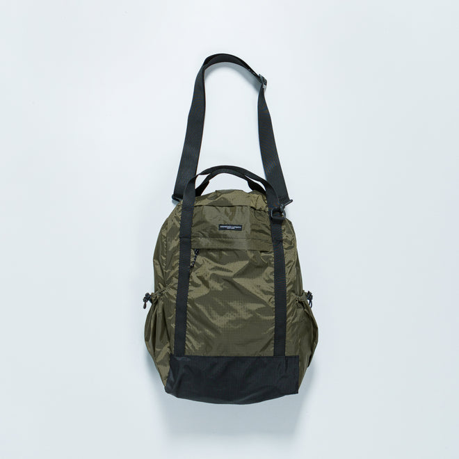 Engineered Garments - UL 3-Way Bag - Olive Nylon Ripstop - Up There