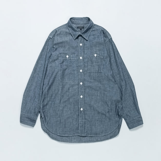 Engineered Garments - Work Shirt - Indigo Cotton Chambray - Up There