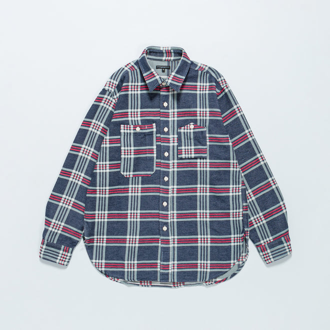 Engineered Garments - Work Shirt - Navy/Teal Red Big Plaid - Up There
