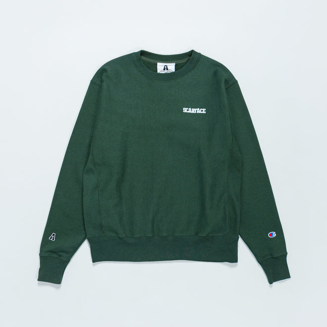 For The Homies - Scarface Crew Sweat - Dark Green - Up There