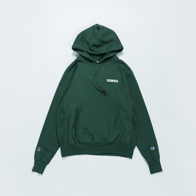 For The Homies - Scarface Pullover Hood - Dark Green - Up There