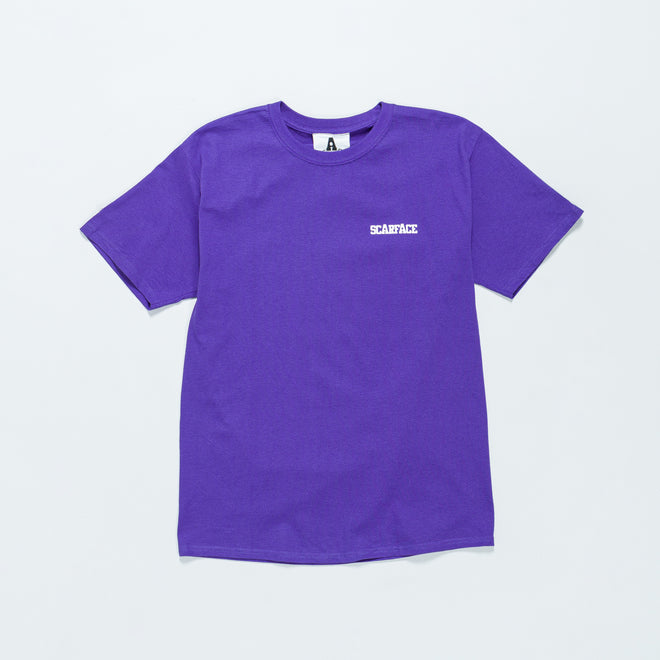 For The Homies - Scarface T-Shirt - Purple - Up There
