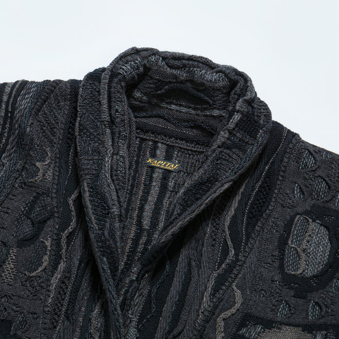 Kapital - 7G Maze Gaudy Cardigan - Black - Up There