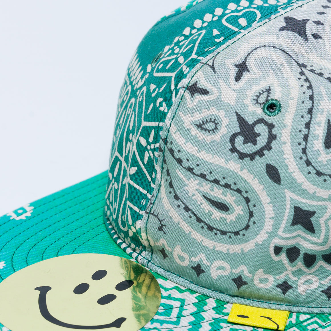 Cotton Bandana Patchwork Baseball Cap - Green - Up There