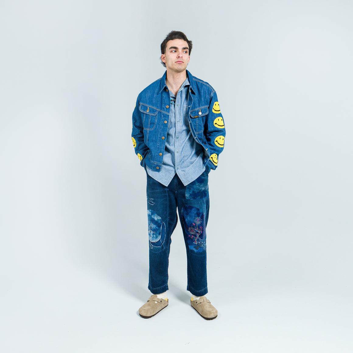 Kapital - 11.5oz Denim Westerner (SMILE) - Indigo - Up There