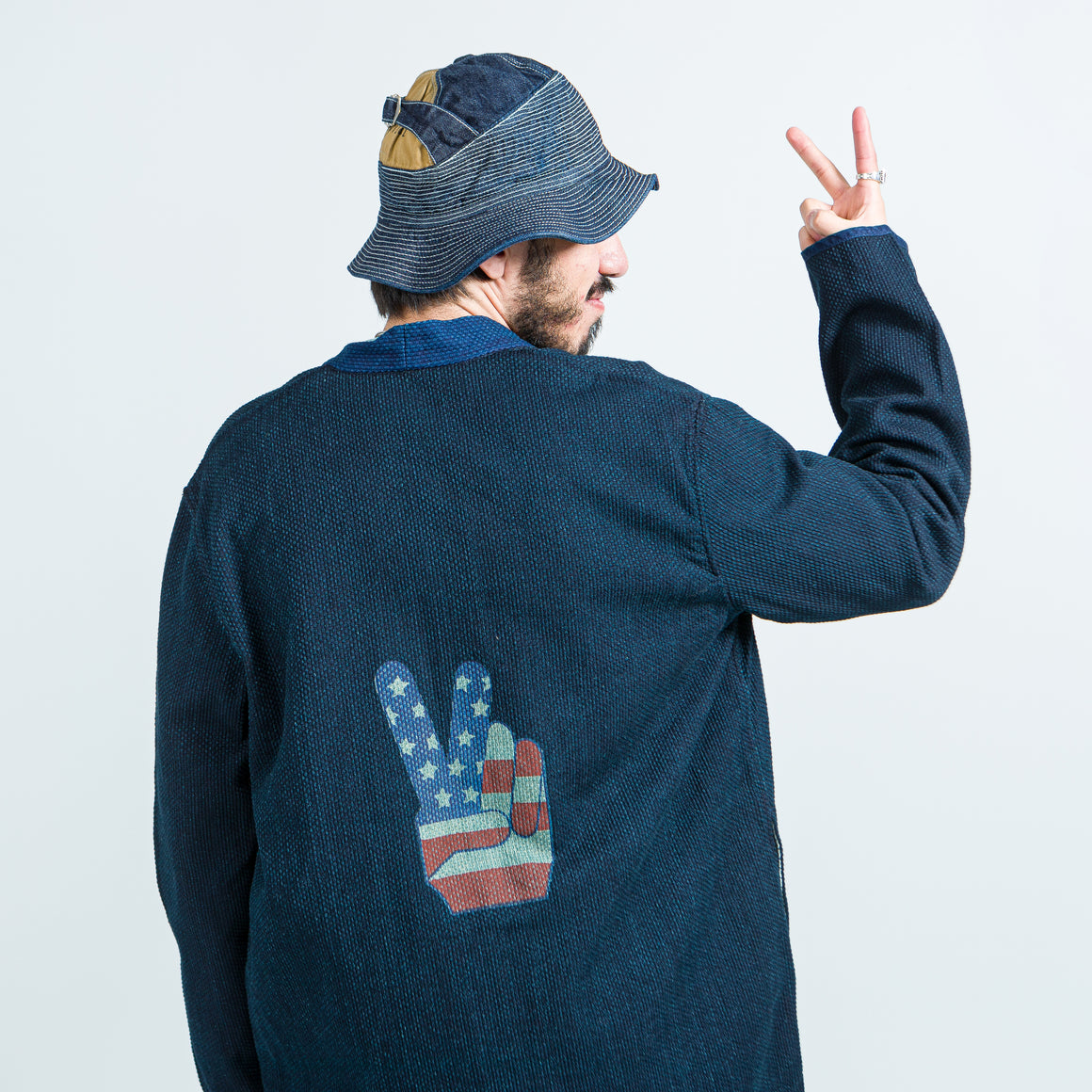Kapital - IDG DO-GI Canvas Sha-Ka Jacket (Freedom) - Indigo - Up There
