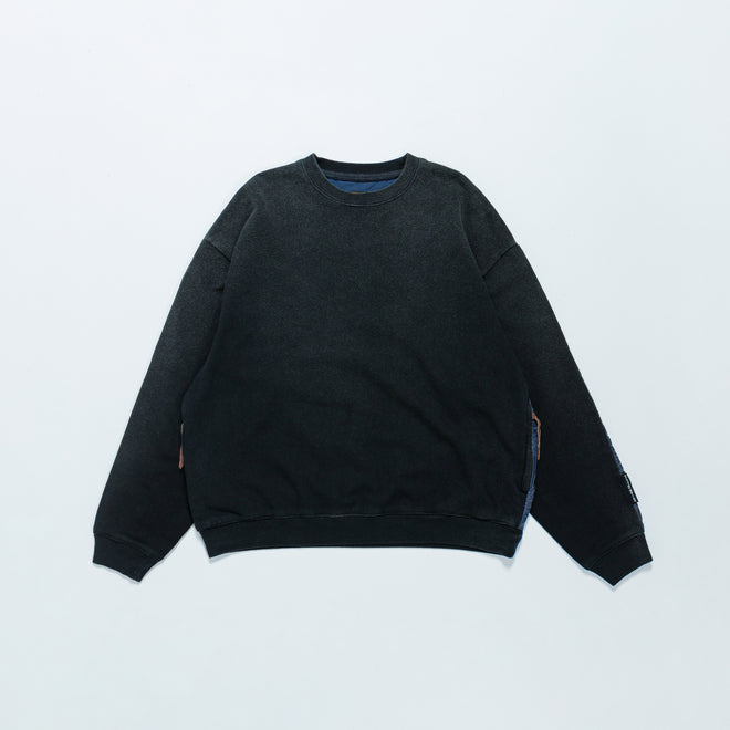 Kapital - Fleecy Knit Bivouac Big Sweat - Black - Up There