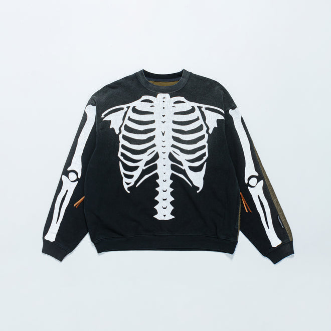 Kapital - Fleecy Knit Bivouac Big Sweat (BONE) - Black - Up There