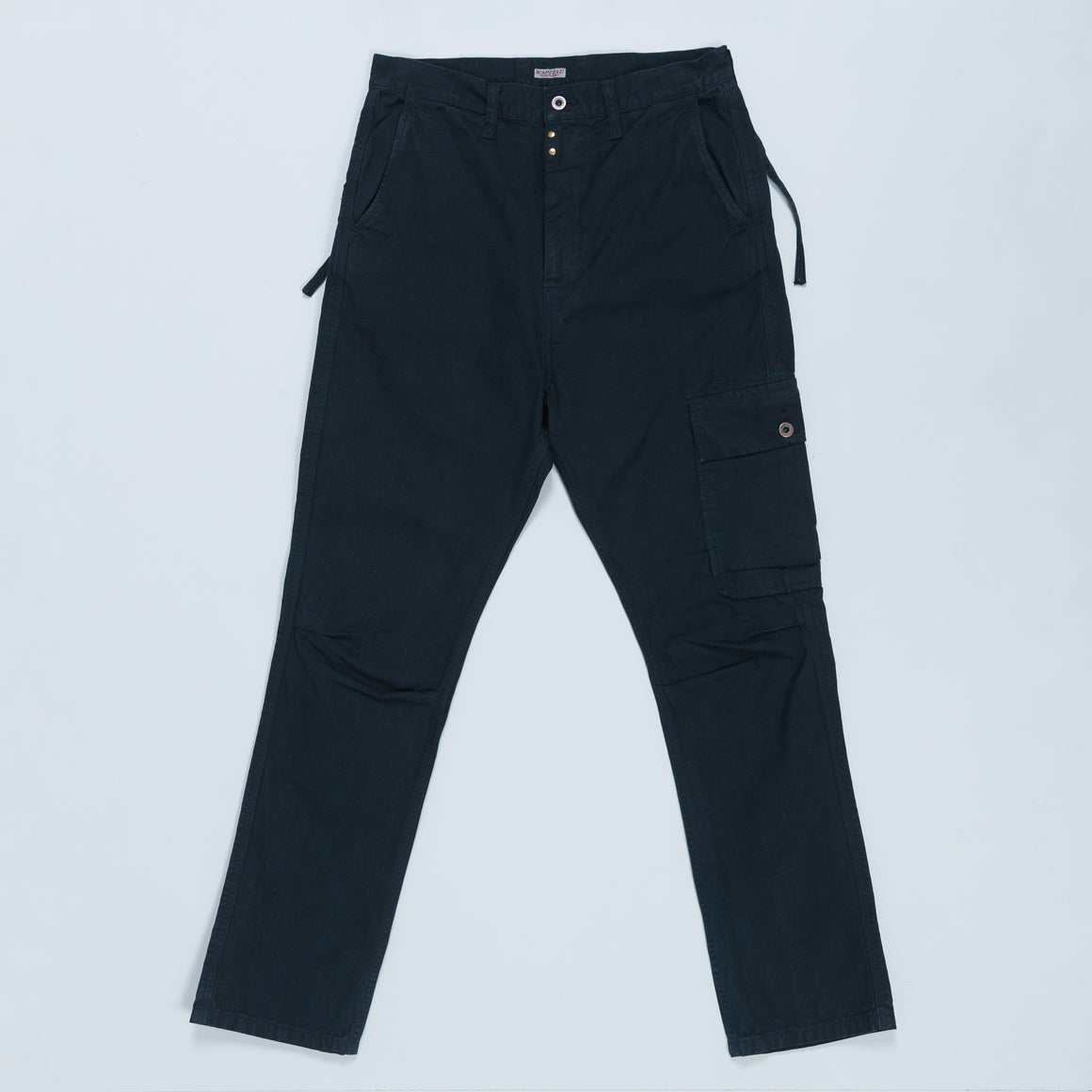 Light Canvas Ringoman Cargo Pants - Black - Up There