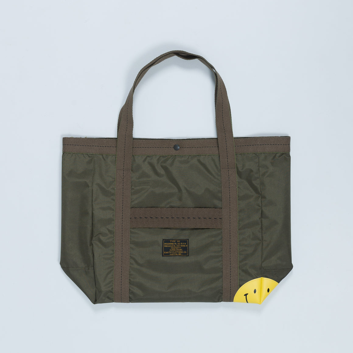 Nylon Army Smile Tote Bag - Large - Up There