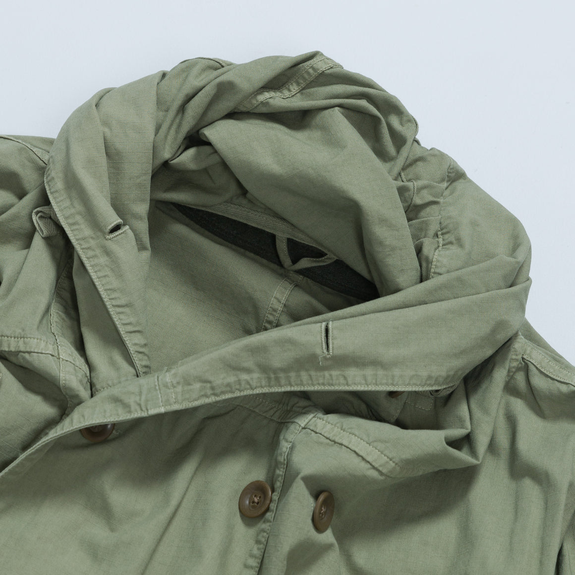 Rip Stop Army Ring Coat - Khaki - Up There