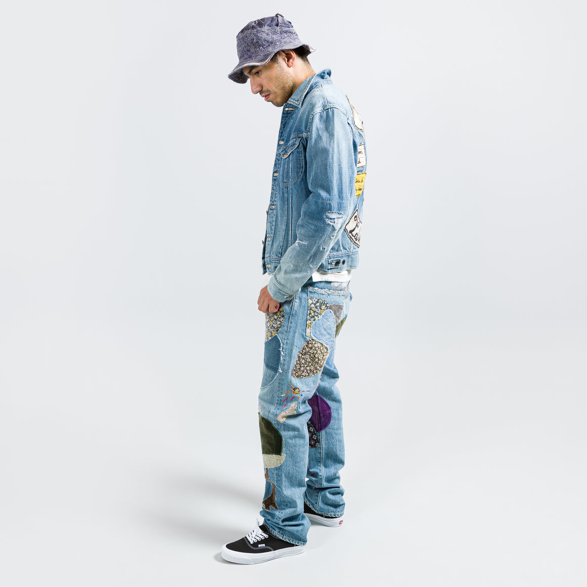 Kapital - 14oz Denim MARLEY UPRISING Jacket - Light - Up There