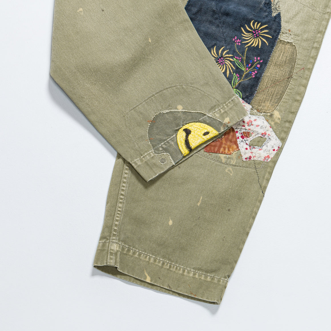 Kapital - KATSURAGI Cotton High Waisted NIME Pants (GypsyRemake) - Khaki - Up There