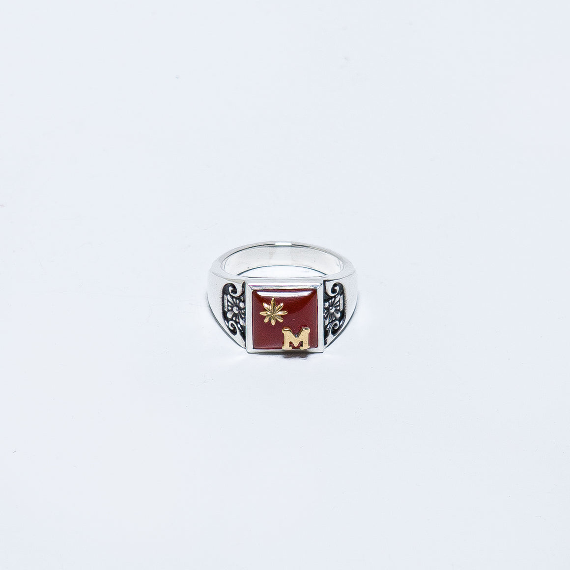 Maple - Collegiate Ring - Silver 925/Red Garnet/Gold - Up There