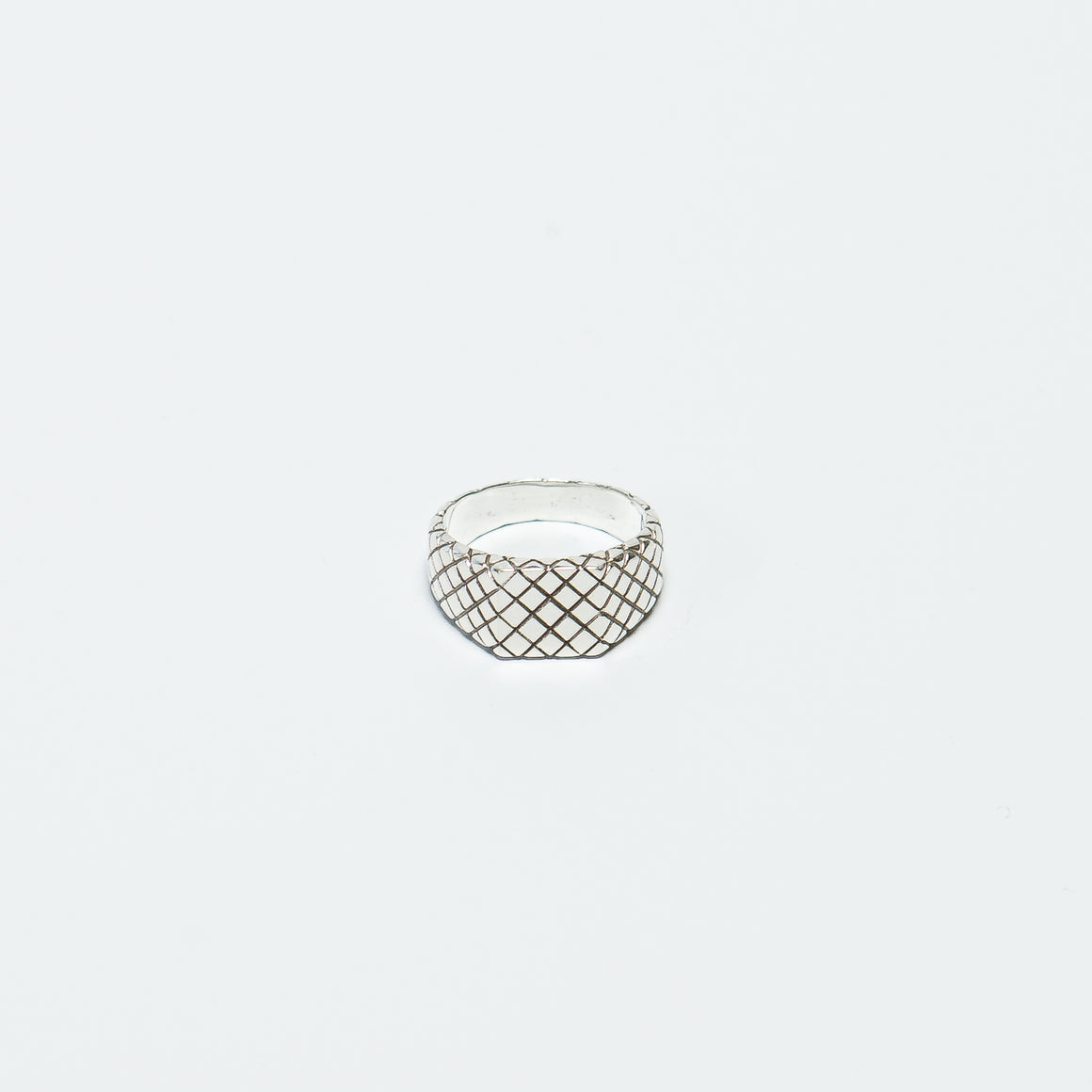 Maple - Quilted Signet Ring - Silver 925 - Up There