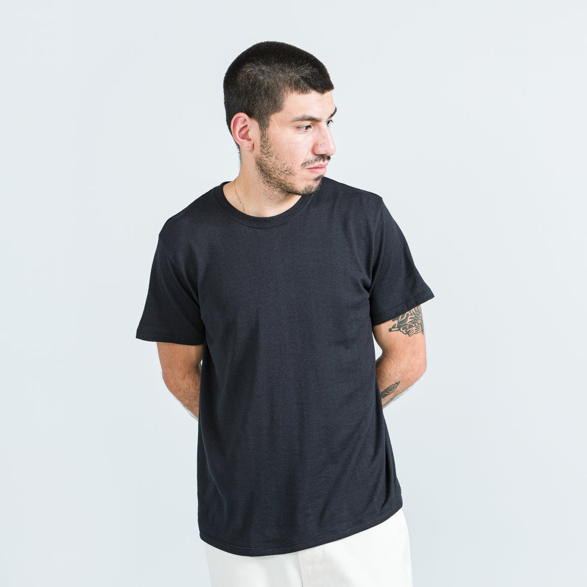Nanamica - Loopwheel COOLMAX Jersey Tee - Black - Up There