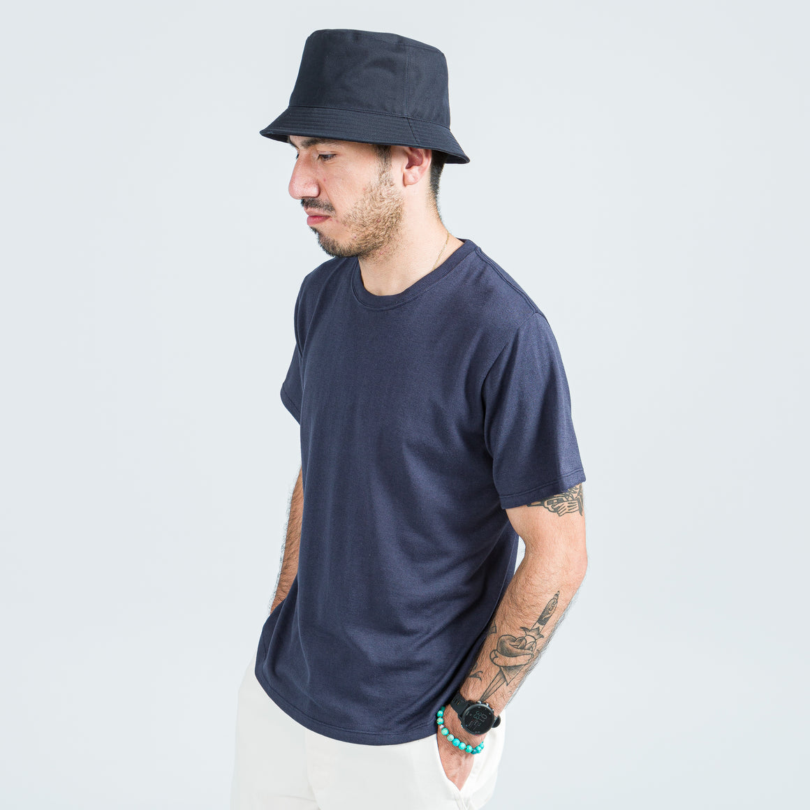 Nanamica - Loopwheel COOLMAX Jersey Tee - Navy - Up There