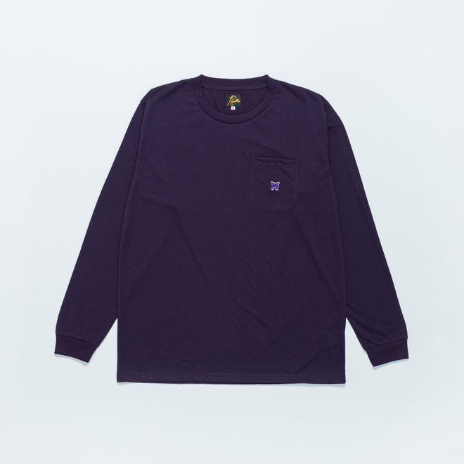 Needles - L/S Crewneck Tee - Purple Poly Jersey - Up There