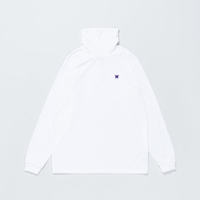 Needles - L/S Turtle Neck - White Poly Jersey - Up There