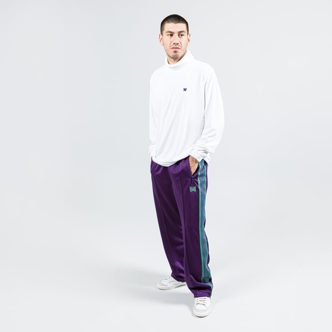 Needles - Track Pant - Eggplant Poly Smooth - Up There