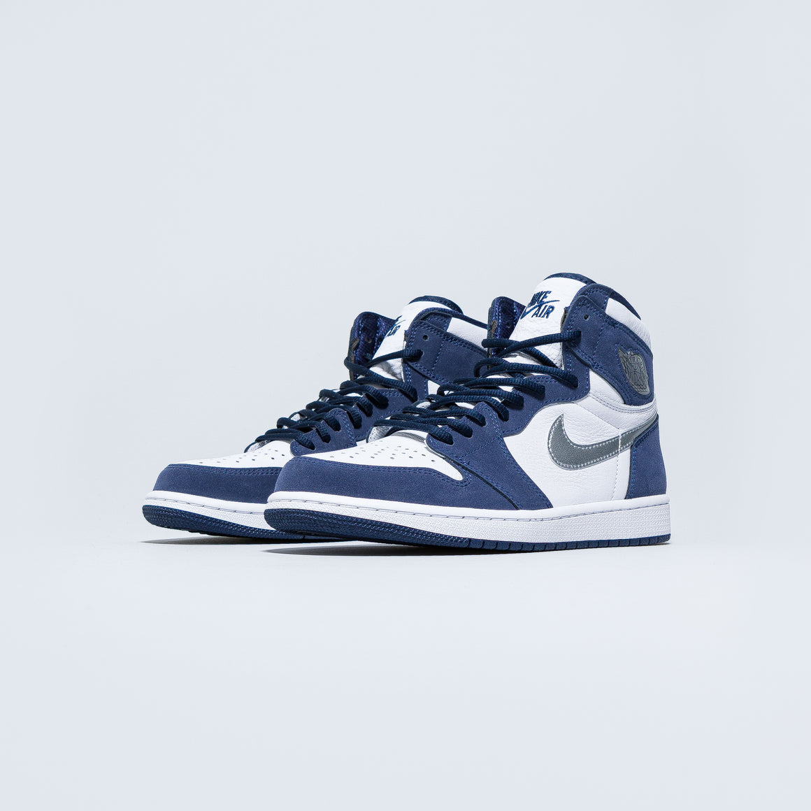 Jordan - Air Jordan 1 High OG Co.JP - White/Metallic Silver-Midnight Navy - Up There