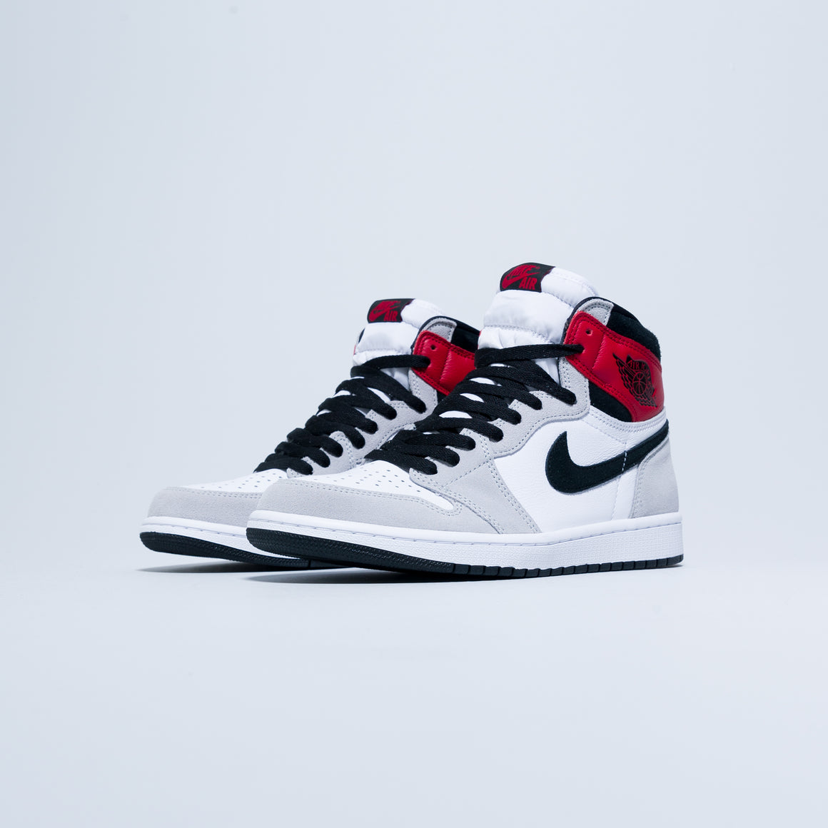 Air Jordan 1 Retro Hi OG - White/Black-Light Smoke Grey-Varsity Red - Up There