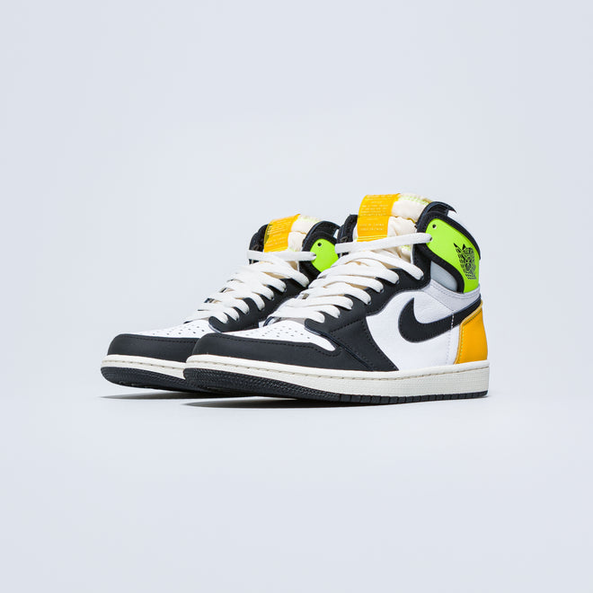 Jordan - Air Jordan 1 Retro High OG - White/Black-Volt-University Gold - Up There