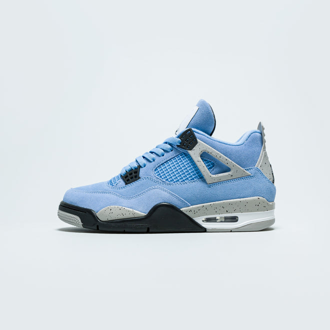 Jordan - Air Jordan 4 Retro - University Blue/Black-Tech Grey-White - Up There