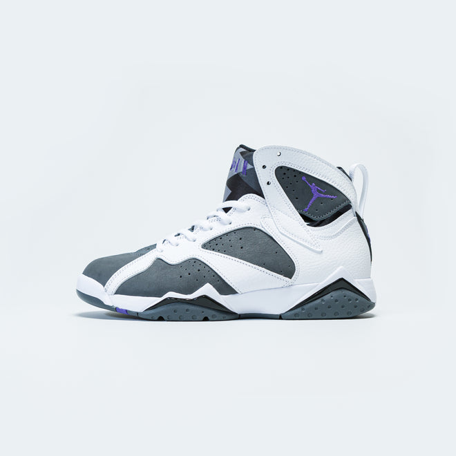 Jordan - Air Jordan 7 Retro - White/Varsity Purple-Flint Grey-Black - Up There