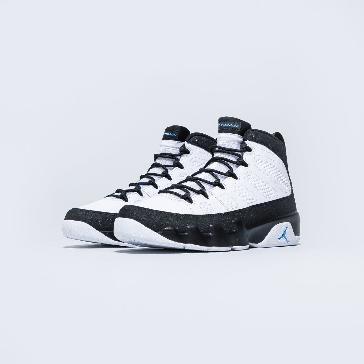 Jordan - Air Jordan 9 Retro - White/University Blue-Black - Up There