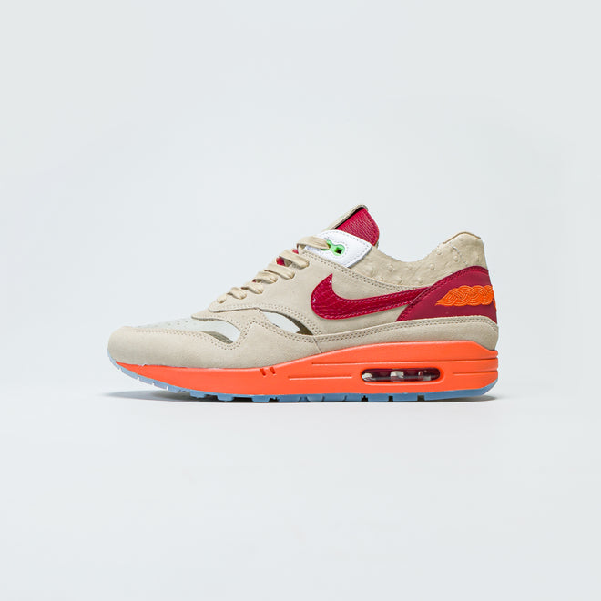 Nike - Air Max 1 x Clot - Net/Deep Red-Orange Blaze - Up There