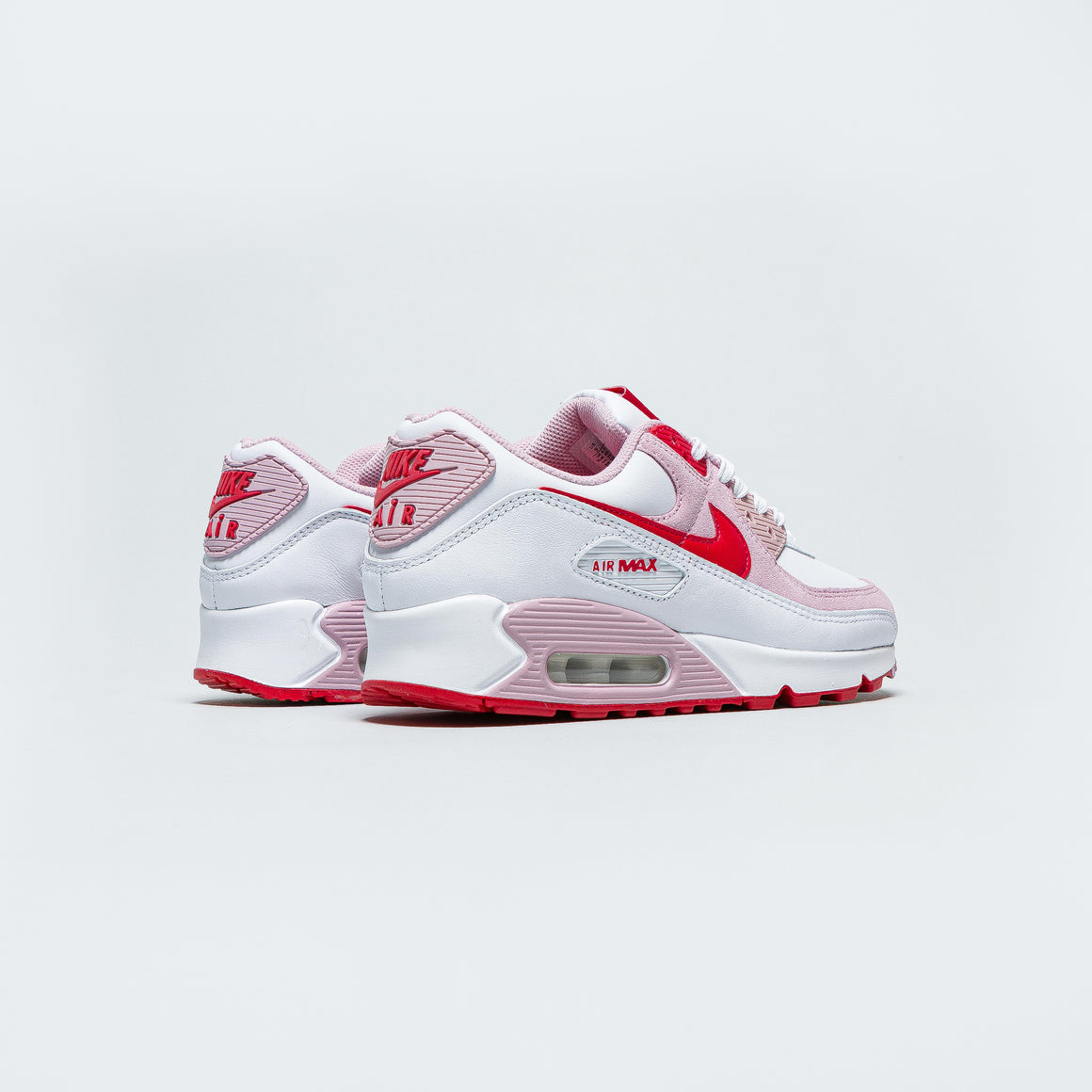 Nike - Womens Air Max 90 QS - White/University Red-Tulip Pink-White - Up There