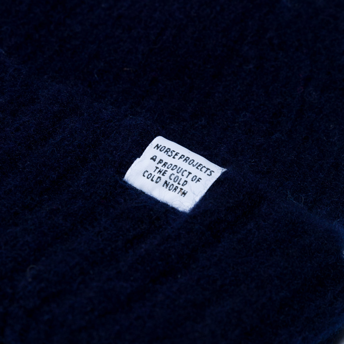 Brushed Lambswool Beanie - Dark Navy - Up There