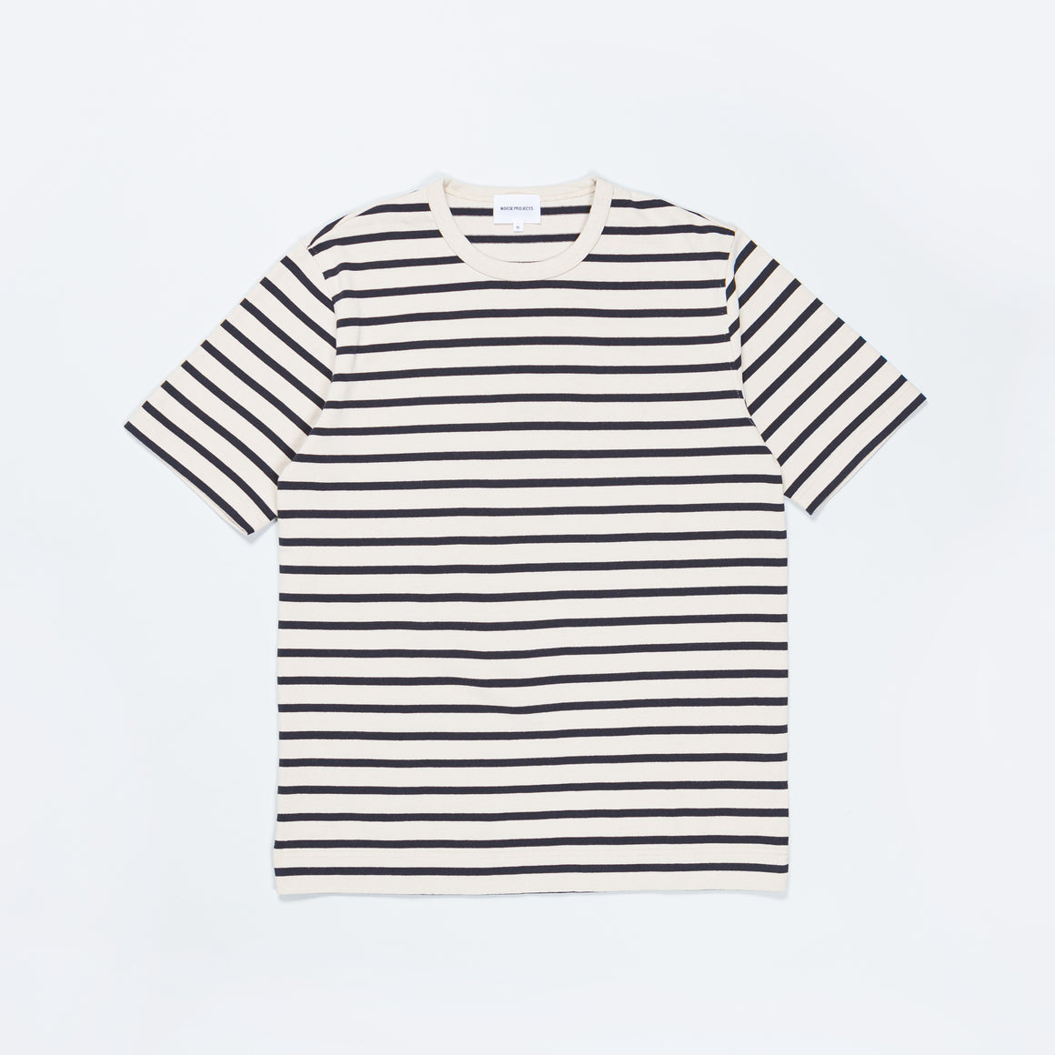 Norse Projects - Holger SS Compact Cotton Bold Stripe - Ecru - Up There